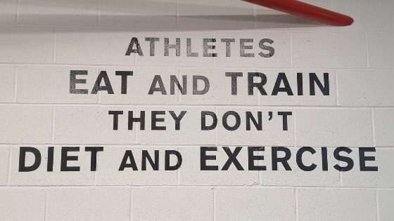 Eat and Train, Not Diet and Exercise
